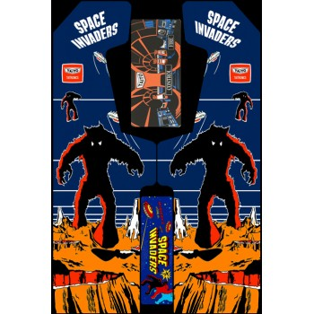 VINILO (Space Invaders) MUEBLE KIT VIDEOVAL SLIM