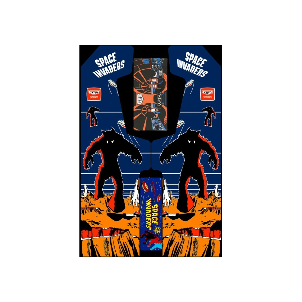 VINILO (Space Invaders) MUEBLE KIT VIDEOVAL SLIM